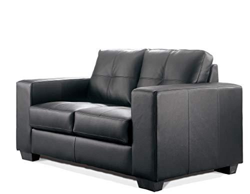 SEDEX Madelaine Designercouch/Polstergarnitur/Polstercouch/Couch 2-Sitzer Pellissima Kunstleder schwarz