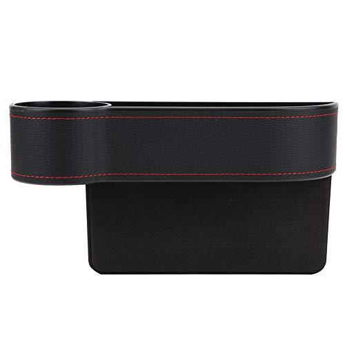 Mothinessto Material de ABS de PU Duradero Estabilidad Fuerte Caja de Almacenamiento de Coche Multifuncional Tazas de té para teléfonos móviles(Black Driver, 12)