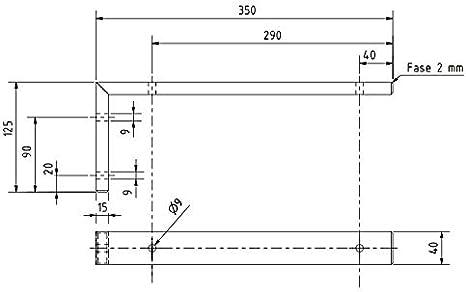 Sponholz Waschtischkonsole Handtuchhalter Winkel Schwerlasttr/äger stabil schwarz massiv 35 cm 45 cm 1 Winkel 35 cm + 1 Handtuchhalter 35 cm