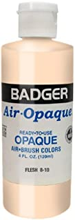 Badger Air-Brush Company 8-10 Air-Opaque Airbrush Ready Water Based Acrylic Paint, Flesh , 4-Ounce