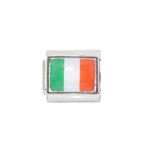 Ireland Flag - enamel charm - 9mm Italian charm - fits Zoppini, Talexia and classic Italian charm bracelets