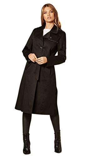 Anastasia De La Creme - Trenchcoat für Damen im Frühling, Schwarz, Größe 48