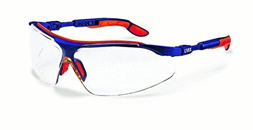 UVEX Komfort-Schutzbrille i-vo blau-orange ungetönt