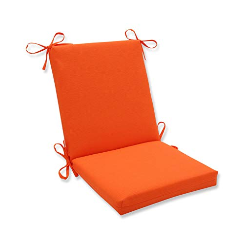 Pillow Perfect Outdoor/Indoor Sundeck Square Corner Chair Cushion, 36.5' x 18', Orange
