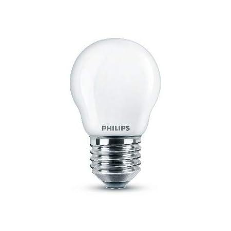 Philips ampoule LED Sphérique E27 40W Blanc Froid Dépolie, Verre