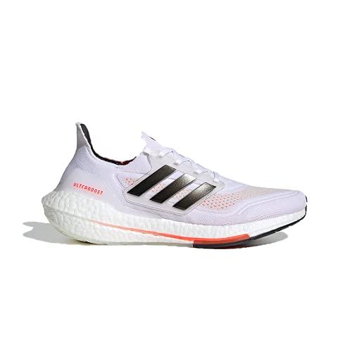 adidas Ultraboost 21 White/Black/Solar Red 10.5 D (M)