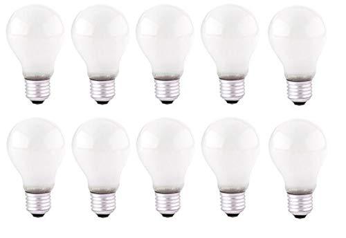 NCC-Licht 10 Lampadine a incandescenza standard E27, 60 W, 230 V, opache