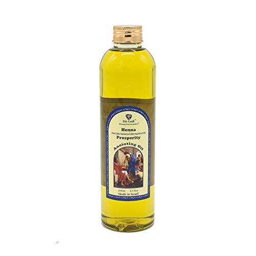 Aceite de unción 250 ml - 8 fl oz de Holyland Jerusalén (Prosperidad de Henna)