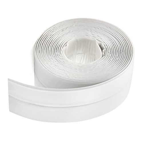 FOCCTS Selbstklebendes Dichtungsband Dusche Küche Dichtungsstreifen Klebeband, Wasserdicht&Schimmelfest Dichtband Fugendichtungsband für Badezimmer Toilette und Wandversiegelung,3,8 cm x 3,3m (Weiß)