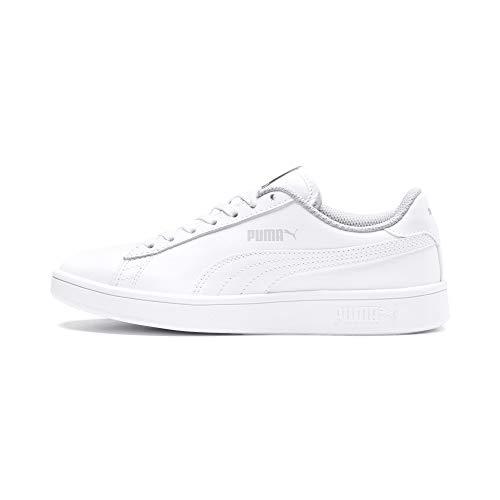 PUMA Unisex Kinder Puma Smash V2 L Jr Sneaker, Weiß Puma White Puma White, 38 EU