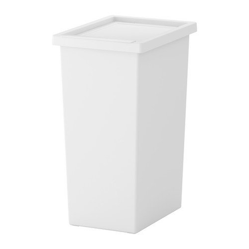 IKEA FILUR Tonne mit Deckel in weiß; (42l)