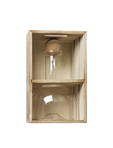 Brandani 54387 decanter ampolla in vetro borosilicato con tappo in sughero 750ml