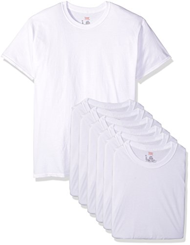 Hanes Ultimate Men's FreshIQ Odor Control Crew Neck Undershirt-Multipack, White 6-Pack, Large Now $16.96 (Was $40.00)