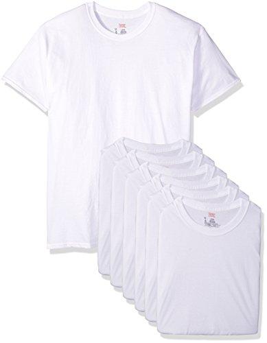 Hanes Classics Herren-T-Shirt mit Rundhalsausschnitt, 6er-Pack - Weiß - Large