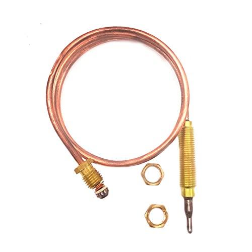 Amusingtao Ersatz-Thermoelement für Gaskamin, Feuerstelle, Universal-Thermoelement für Grill/Feuerschalen/Öfen/Gas-Wasserheizer, 600 mm