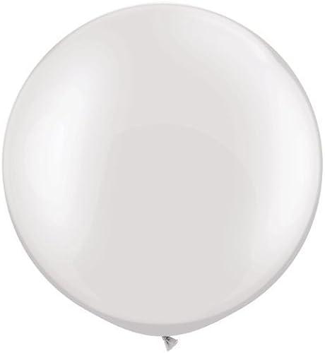 Pearl Weiß 30  Giant Qualatex Latex Balloons x 2 by Qualatex