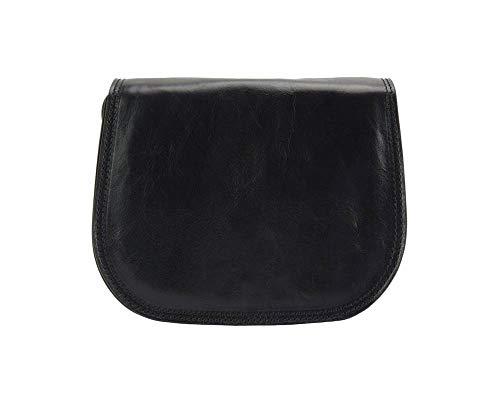 Florence Leather Market Bolso con bandolera Ines en piel de becerro suave - 6568 - Bolsos (Negro)