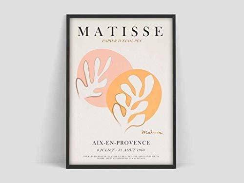SXXRZA Leinwanddruck 50x70cm Kein Rahmen Henri Matisse Poster Matisse Druck Matisse Jazz Poster Matisse Kunstposter Familiendekorative Leinwandmalerei