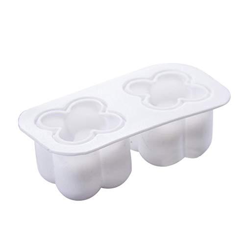 Moldes de silicona 3D, forma de bola, molde de velas para bricolaje, cera de soja hecha a mano de jabón (10,7 x 5,5 x 4 cm)