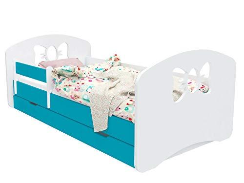 DG SCHLEIFCHEN - Cama infantil con colchón y canapé azul azul Talla:140x70 cm