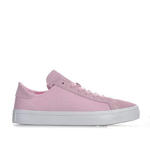 Womens Adidas Originals Court Vantage Trainers in Wonder pink.