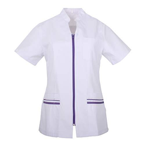 MISEMIYA - Casaca Camisa Camisetas Mujer Uniformes Laboratorios Uniformes Medicos Clinica Veterinarias Ref.702 - M, Camisa Laboratorio 702-2 Lila