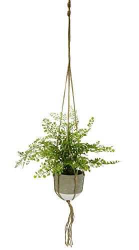 Künstlicher Frauenhaarfarn in Hängeampel Kunst-Pflanze Dekopflanze Pflanze Grünpflanze hängend Blumenampel zum Aufhängen Waldfarn Farnbusch Topfpflanze Unechte Dschungel Strauch Kunstblume