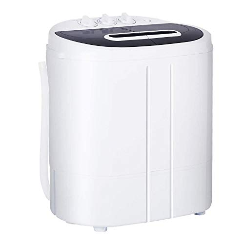 Mini Portable Washing Machine 10 Lbs,Compact Laundry Washer with Spin Dryer, 300W Fully Automatic Mini Washer and Dryer Combo for Apartments, RV,Camping Dormitory Underwear/Baby Clothes Washer