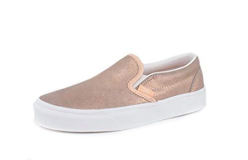 Vans Mens U Clasic Slip ON Rose Gold Size 6.5