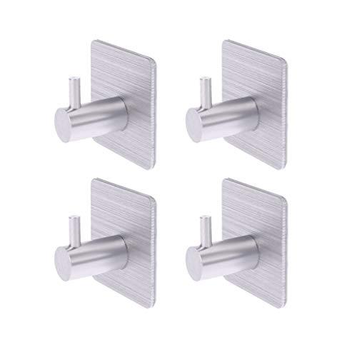 PT-KMKMING 4 Stück Selbstklebende Haken, Hauptküche Wandtürhaken-Kleidung-Mantel-Beutel-Schlüssel-Aufhänger Badezimmer Handtuchhalter Storage Rack
