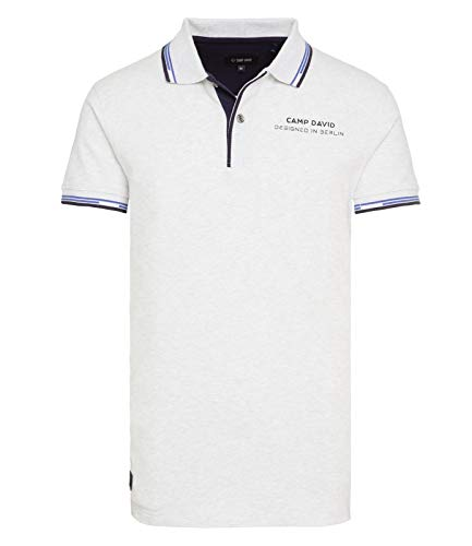Camp David Poloshirt Signature Comfort White Melange CHS-1811-3004 (L)