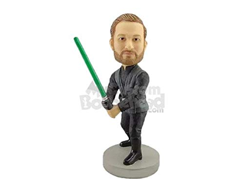 MyCustomBobblehead.com Personalized Bobblehead Jedi Star War Character - Pose & Clothing Style As Shown image