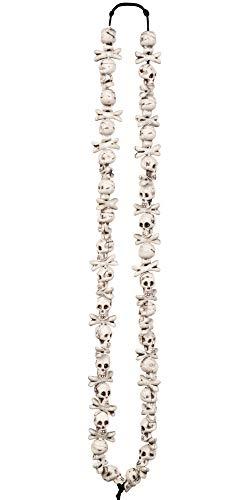 Totenkopf Knochen Halskette zum Voodoo Priester Kostüm - Gruseliger Schmuck Halloween, Day of The Dead, Neandertaler Vampir