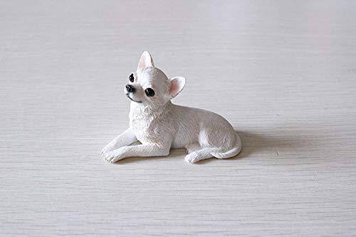 Skulptur Ornamente Mini Chihuahua Simulation Hund Modellauto Dekoration Harz Handwerk Sammlung-C_8.5X4.5X5.5_cm