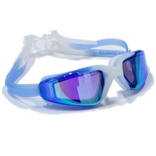 UKKD Gafas de natación Silicona Anti-Niebla Natación Gafas Anti-Ultravioleta Regulable Piscina Gafas Hombres Y Mujeres Natación Gafas