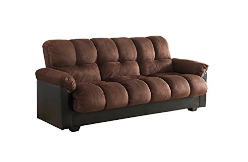 Milton Greens Stars London Storage Futon Sofa Bed with Champion Fabric, Charcoal