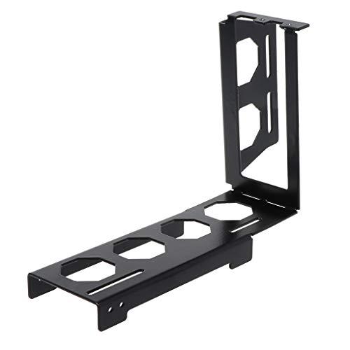 ruiruiNIE Supporto per Scheda Grafica in Metallo Fai-da-Te Riser Custodia ATX Verticale Fissa PCI-E 16x x16 Supporti Interni Supporto Stent Supporto Nero