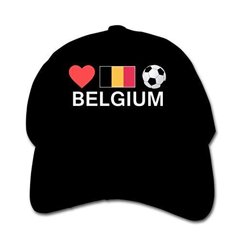 Belgium Football Belgium Soccer Unisex Kinder Mütze Sonnenhut Hip Hop Kappe Verstellbare Sportkappe Teen Hut Kinder Entenschnabel Kappe