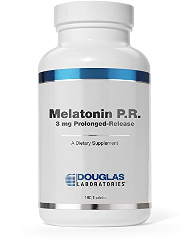 Douglas Laboratories Melatonin P.R. | 3 mg Prolonged-Release Melatonin to Support Sleep/Wake Cycles* | 180 Tablets