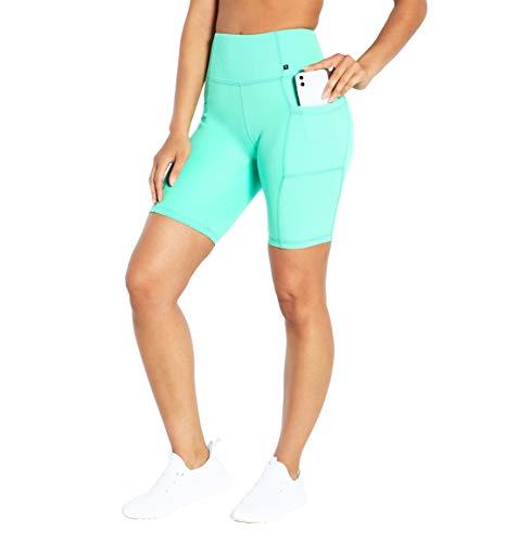 Marika womens Marika Women s Belle Rib High Rise Pocket Bermuda Short Jade Cream Medium, Jade Cream, Medium US