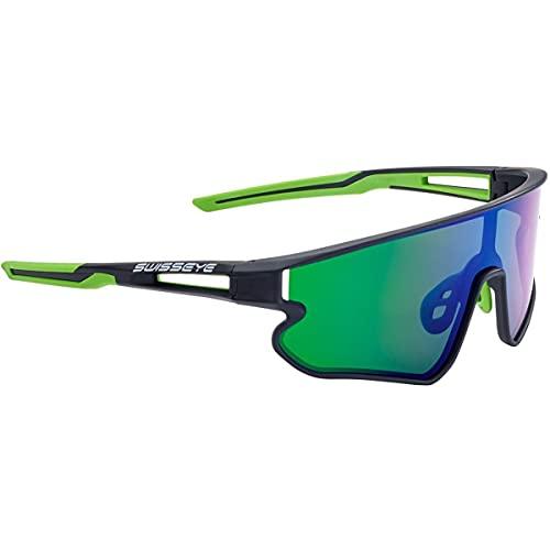 Swiss Eye Hurricane Sportbrille, Black matt-Green