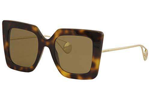 Gucci GG0435S-003-51 Gafas, Havana/Gold, 51.0 Unisex Adulto