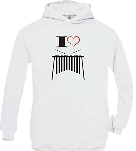 Shirtstown - Sweat-shirt à capuche - Col Rond - Manches Longues - Garçon - blanc - 14 ans