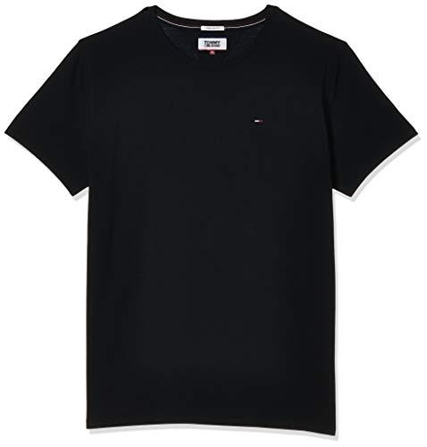 Tommy Hilfiger Regular C, Camiseta con Cuello Redondo Hombre, Negro (Tommy Black), XL