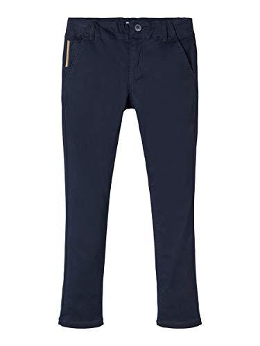 NAME IT Nkmsilas Twitarymo Chino Noos Pantalones, Azul (Dark Sapphire Dark Sapphire), 158 para...