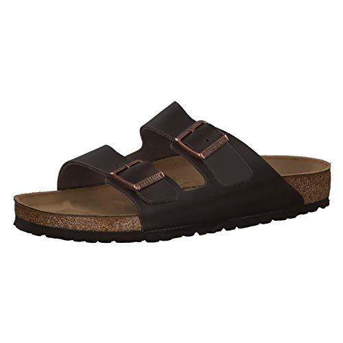 Birkenstock Schuhe Arizona Naturleder Normal Dark Brown (051101) 41 Braun