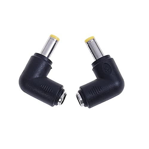 Conector 2 / 4pcs D C 5.5 * 2.1 Femeninas / 5.5 * 2.5mm Macho / 4.0 * 1.7mm Macho D C Conector de enchufe de enchufe de enchufe de enchufe de 90 grados L Configuración de CC Conectores de alimentación