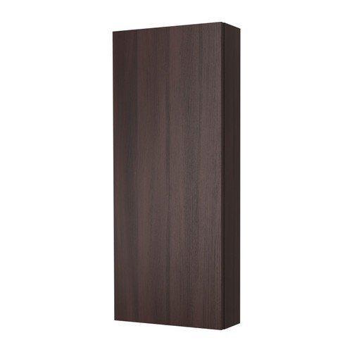 IKEA GODMORGON - Armario de pared con una puerta (40 x 14 x 96 cm), color marrón y negro