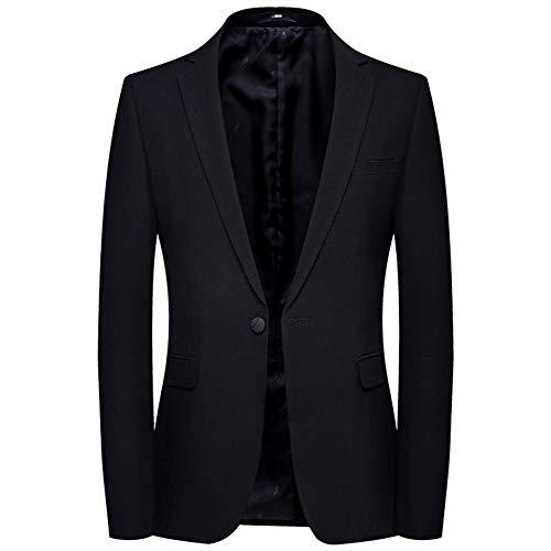 WYX Herren Klassischer Schwarzer Anzug Herren Business One Button Blazer Jacke Herren Slim Fit Business Club Holiday,a,170/M