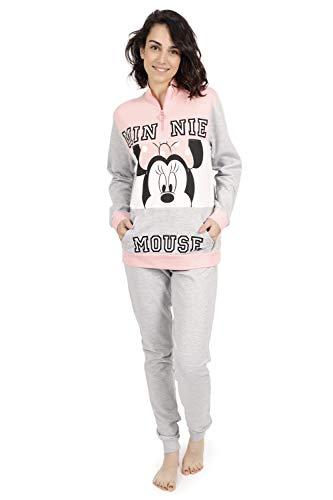 Disney Pyjama manches longues Minnie Sport pour femme, rose, M